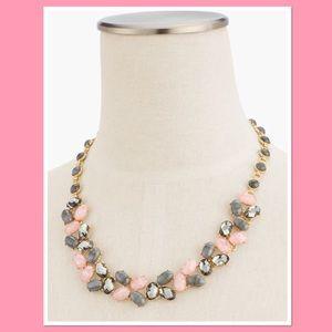 Talbots Pink & Neutral Statement Necklace